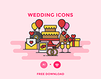 FREE - WEDDING ICONS
