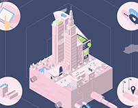 Isometric experiment - City and buildings