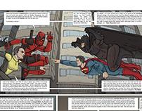 Deadpool vs Superman vs Batman