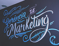 Lettering - Gerência de Marketing
