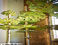 Abstracted oak tree display