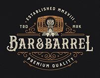 Bar&Barrel Logo Design