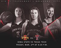 Iowa State Women's Basketball Big12 Game Day Graphic