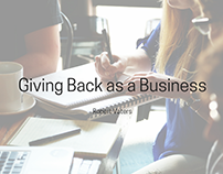 Giving Back as a Business