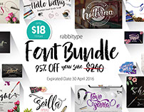 APRIL HOT FONT BUNDLE