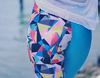 Geometric Acqua Leggings