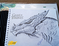 Game of Thrones Dragon (Lead Pencil Art) by Syed Art