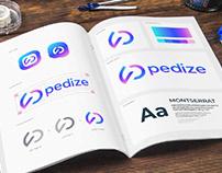 Pedize- Logo and Brand Guidelines Book Design