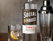 Social House Distilling Label & Logo Design