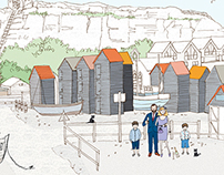 Illustration of Kent beach Huts