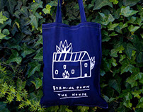 Totebag: Burning down the house