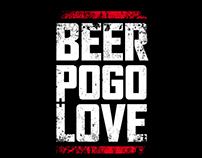 Beer, pogo & love t-shirt