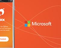 Microsoft - Qlixx App | Visual Brand Development