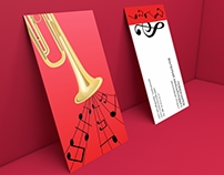 Business card for a musician
