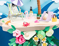 Paper art - Set Design skincare