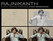 RAJNIKANTH Digital Painting Walkthrough