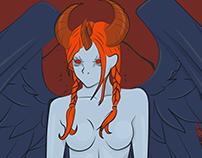 demonic possession through female.