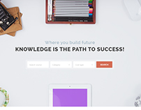 EduHub - Learning Management System PSD Template