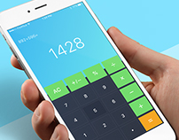 Calculator - Day70 My UI/UX Free Sketch App Challenge