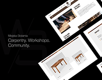 Miejska Stolarnia / Strona WWW + Logo