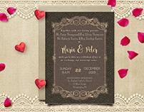 Elegant Wedding Invitation card