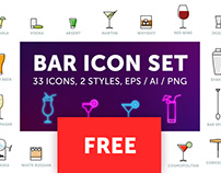 FREE Bar, drink, beverage VECTOR icons