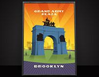 Grand Army Plaza Illustration