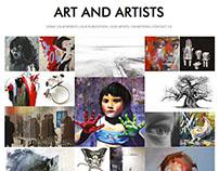 Art & Artists | Web Design