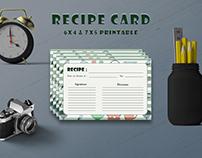 Free Kitchen Textured Recipe Card Template