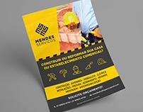 Mendes Serviços - Panfleto, anúncio e cartão de visita