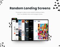 Random Landing page screens