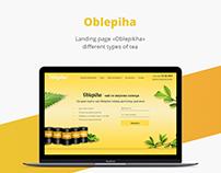 Oblepiha/Landing page/Tea/Web design/UI/UX