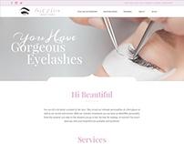 Lash & Brow Beauty Studio Website Design