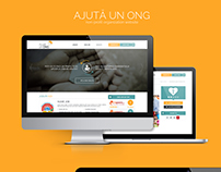 Ajuta un ONG - Non-Profit Organization Website