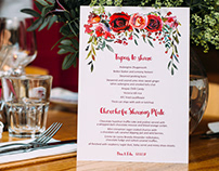 Graphic Design - Wedding Menu
