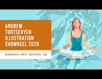 Andrew Turtsevych Illustration Showreel 2020