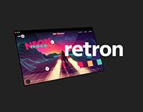retron | retro design website design