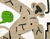 Mural for new Kipling store in Naples