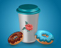 Test I Coffee Cup 3D in Illustrator