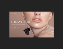 Maria Afanasyeva - jewelry designer - website redesign