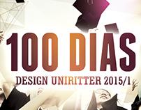 Cartaz Festa de 100 dias - Design UniRitter 2015/1