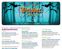 October Monthly Calendar of Events