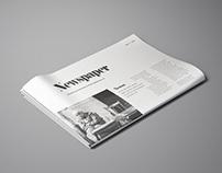 Perspective Newspaper Mockup