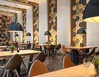 3d visualization of the restaurant