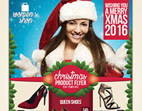 Christmas Sales Flyer Template for your Shop