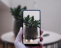 Phone Camera Mockup Free psd