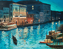 Venice Oil on canvas 20x16""