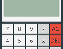 DailyUI 004: Calculator - Retro Simple Calculator