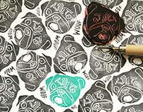 Linoleum Hand Carved Stamps