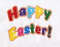 UPLIFTING AND COLORFUL HAPPY EASTER EMBROIDERY DESIGN